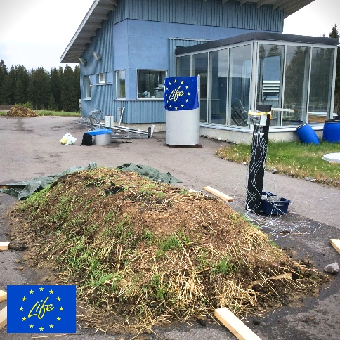 Composting experiments on laboratory scale are going on in Lahti