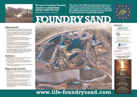 New Dissemination Materials for the Foundry Sand Project