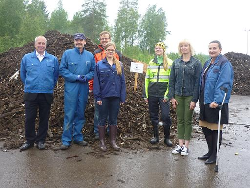 Project meeting and visit to the composting site 30th June, 2015