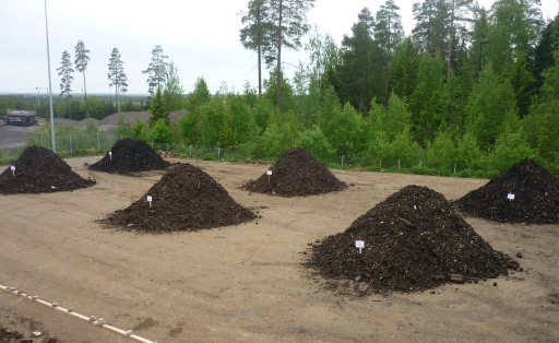 The field scale composting experiments started in Koukkujärvi