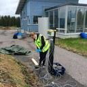Installing temperature measurement sensors