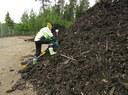Sampling of a compost test heap